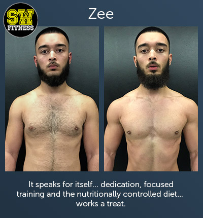 Zee - It speaks for itself... dedication, focused training and the nutritionally controlled diet... works a treat.
